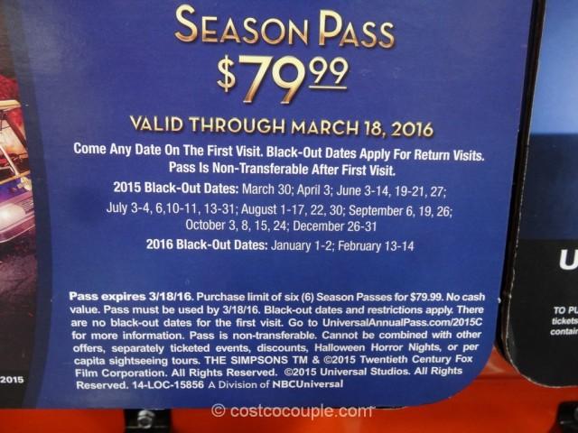 Universal Studios Hollywood 50th Anniversary Pass Costco 5
