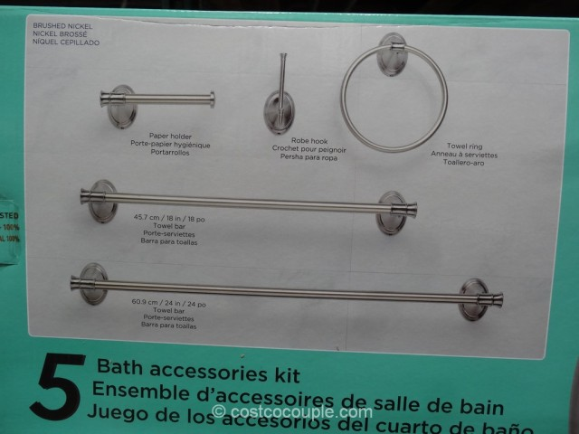 Waterridge 5 Piece Bath Accessories Kit