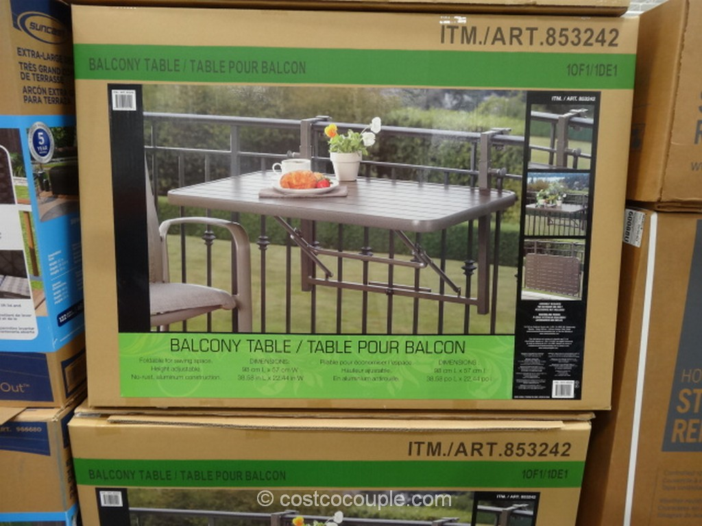 Anderson and Stokke Folding Balcony Table Costco 2
