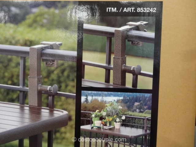 Anderson and Stokke Folding Balcony Table Costco 3