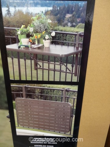 Anderson and Stokke Folding Balcony Table Costco 4