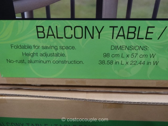 anderson and stokke folding balcony table costco 5 - Costco Folding Table