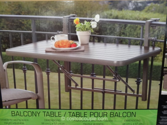 anderson and stokke folding balcony table costco 6 - Costco Folding Table