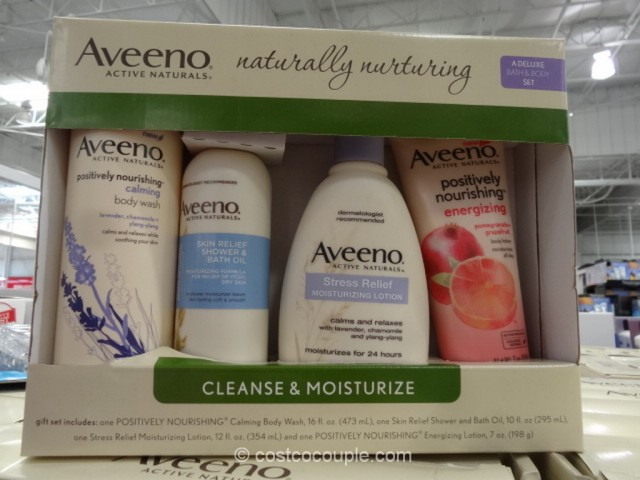 Aveeno Naturally Nurturing Bath And Body Gift Set