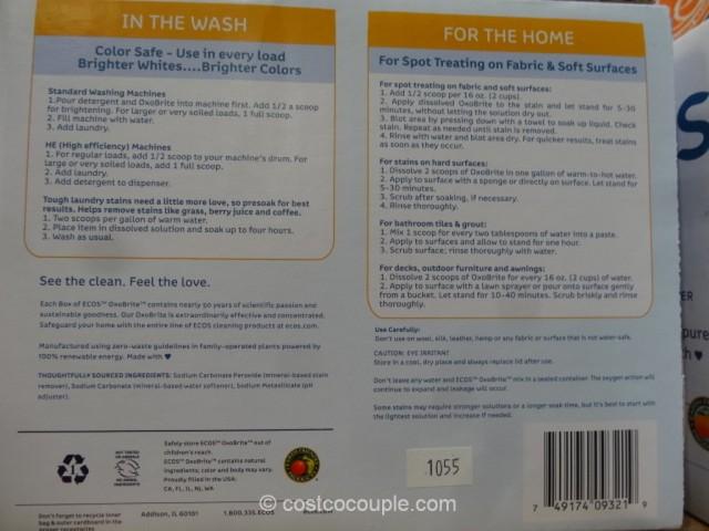Ecos Oxo-Brite Stain Remover Costco 5
