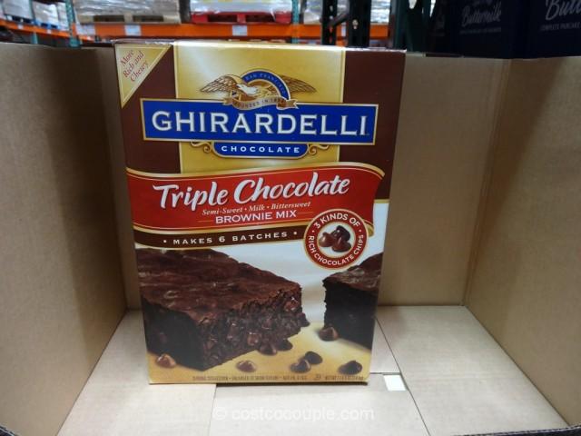 Ghirardelli Triple Chocolate Brownie Mix Costco 3
