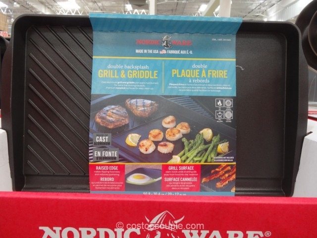 Nordicware Double Backsplash Grill And Griddle Costco 3