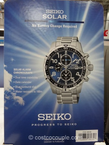 Seiko Solar Alarm Chronograph Watch Costco 4
