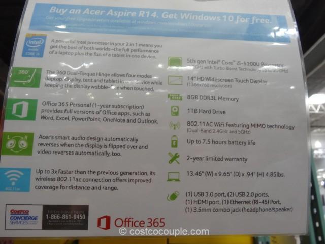 Acer Aspire R14 Costco 2