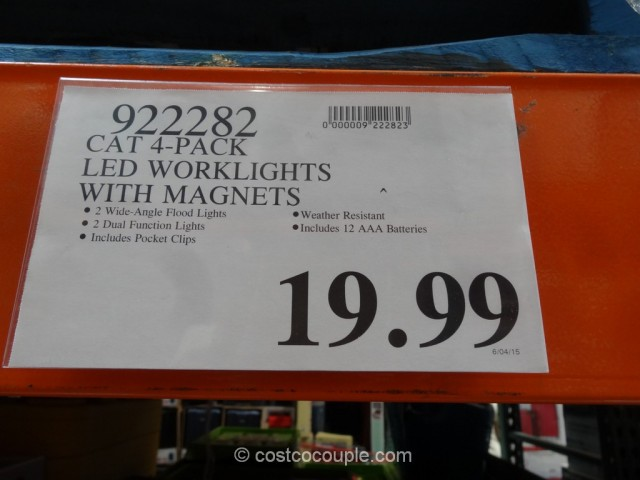 Cat LED Worklights with Magnets Costco 1