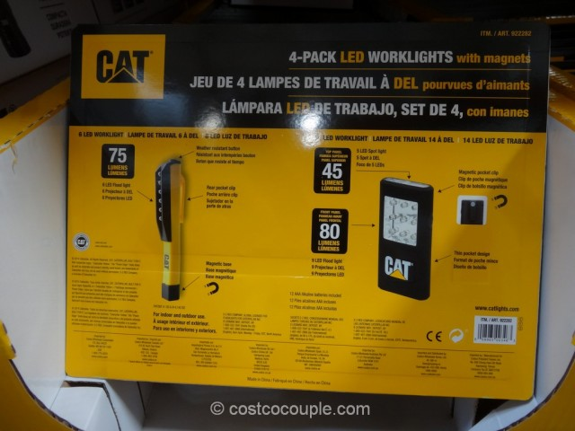 Cat LED Worklights with Magnets Costco 3