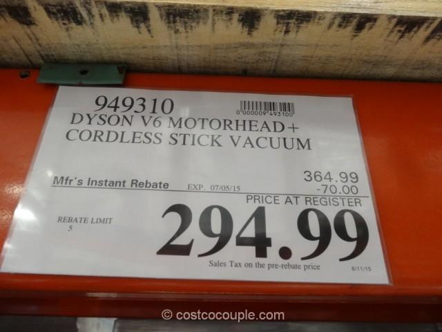 Dyson V6 Motorhead Cordless Stick Vacuum Costco 1