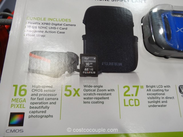 Fuji XP80 Waterproof Camera Costco 4