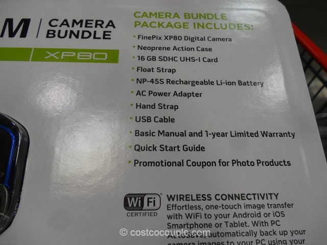 Fuji XP80 Waterproof Camera Costco 5