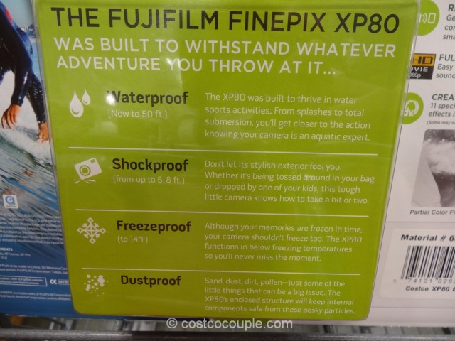 Fuji XP80 Waterproof Camera Costco 6