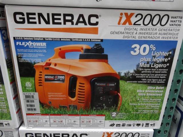 Generac iX2000 Digital Inverter Generator Costco 4