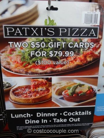 Gift Card Patxis Pizza Costco 2