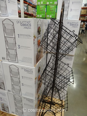 Gourmet Basics By Mikasa Three Tier Floor Basket