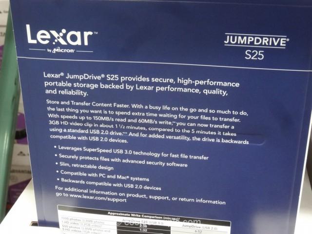 Lexar 32GB JumpDrive Costco 3