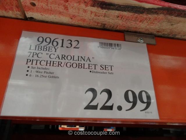 Libbey Carolina Glass Pitcher Set Costco 1