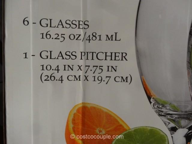 Libbey Carolina Glass Pitcher Set Costco 3