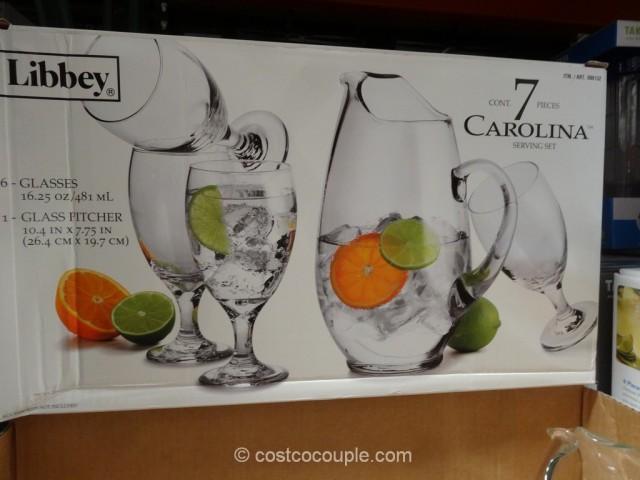 Libbey Carolina Glass Pitcher Set Costco 4