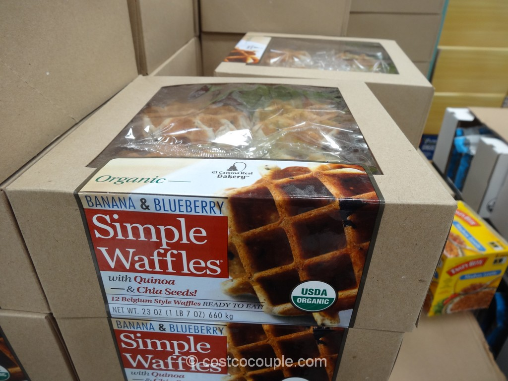 Organic Simple Waffles Banana and Blueberry Costco 3