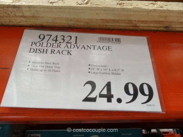 Polder Advantage Dish Rack Costco 1