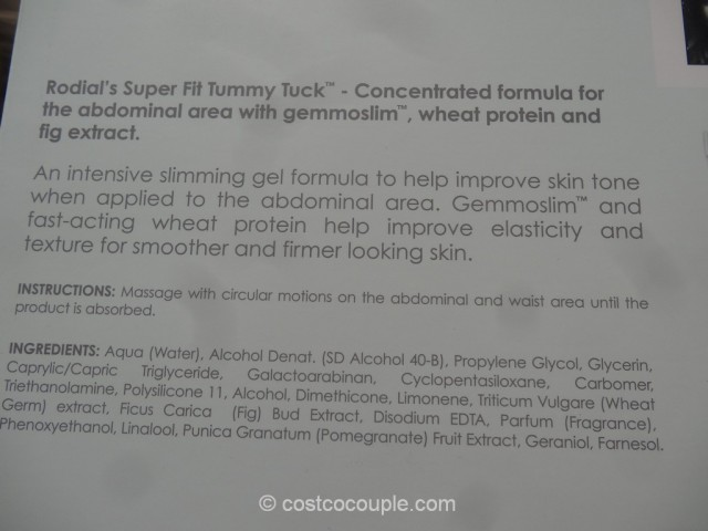 Rodial Super Fit Tummy Tuck Slimming Gel Costco 3