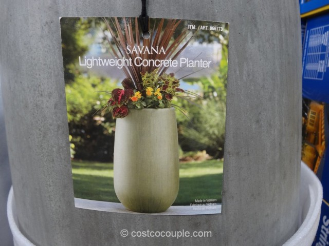 Savana Lightweight Concrete Planter Costco 3