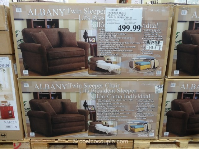 Synergy Home Albany Fabric Twin Sleeper Chair Costco 3