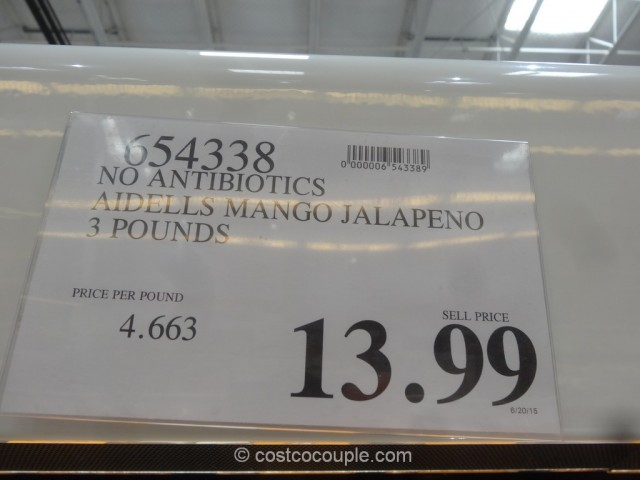 Aidell Spicy Mango With Jalapeno Chicken Sausage Costco 1