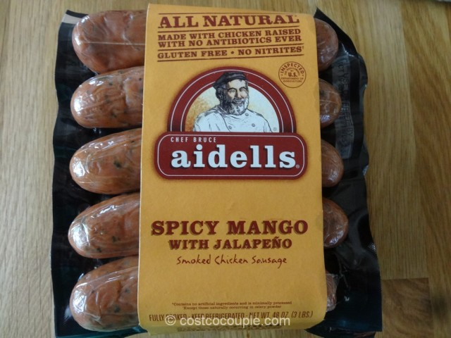 Aidell Spicy Mango With Jalapeno Chicken Sausage Costco 3