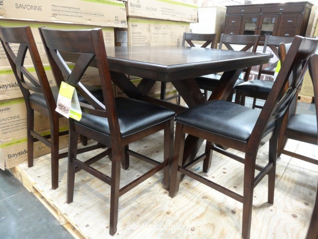 Bayside Furnishings Savonne Counter Height Dining Set Costco 2