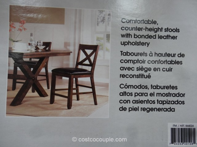 Bayside Furnishings Savonne Counter Height Dining Set Costco 5