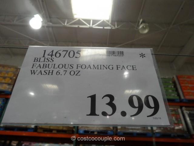 Bliss Fabulous Foaming Face Wash Costco 1