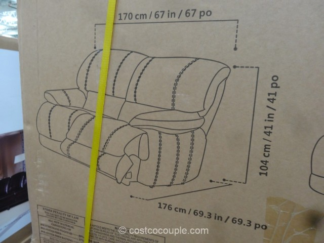 Cheers Clayton Motion Leather Loveseat Costco 4