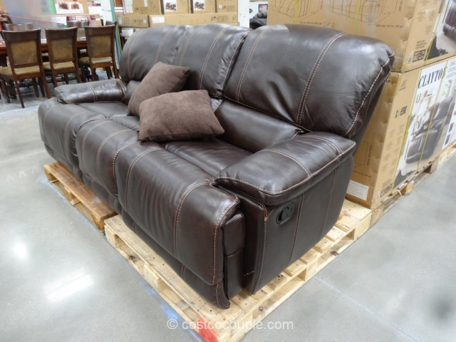 Cheers Clayton Motion Leather Sofa Costco 3