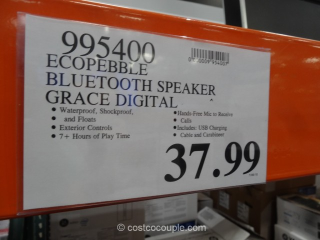 EcoPebble Waterproof Bluetooth Speaker Costco 1