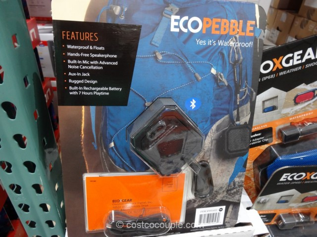 EcoPebble Waterproof Bluetooth Speaker Costco 4