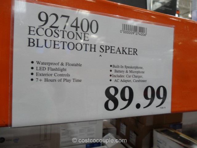 EcoStone Waterproof Bluetooth Speaker Costco 1