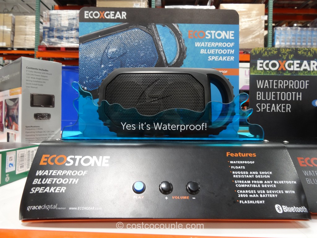 EcoStone Waterproof Bluetooth Speaker Costco 6