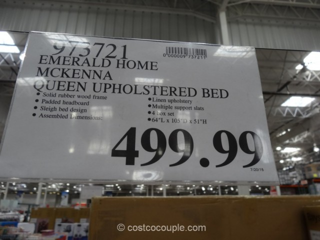 Emerald Home McKenna Queen Upholstered Bed Costco 1