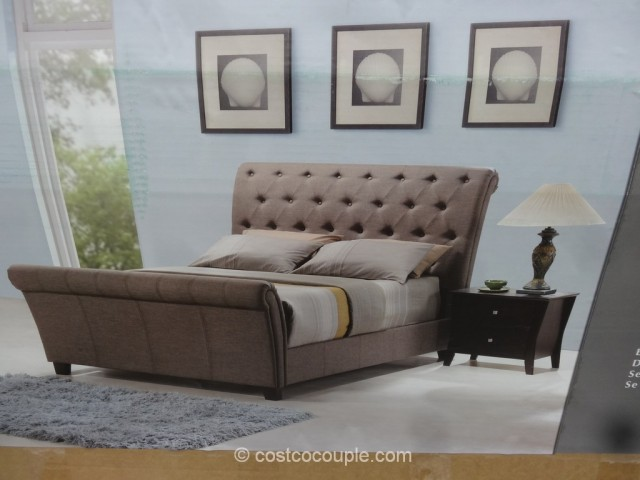 Emerald Home McKenna Queen Upholstered Bed Costco 4