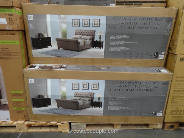 Emerald Home McKenna Queen Upholstered Bed Costco 5