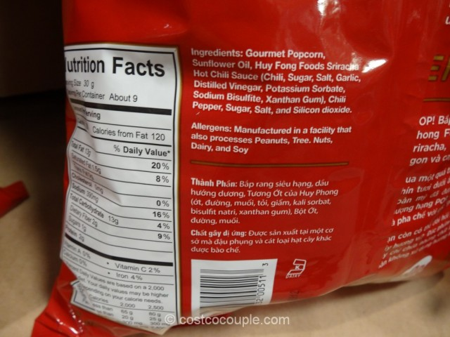 Pop Gourmet Sriracha Sauce Popcorn