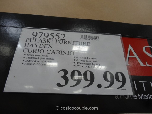 Pulaski Furniture Hayden Curio Cabinet Costco 1