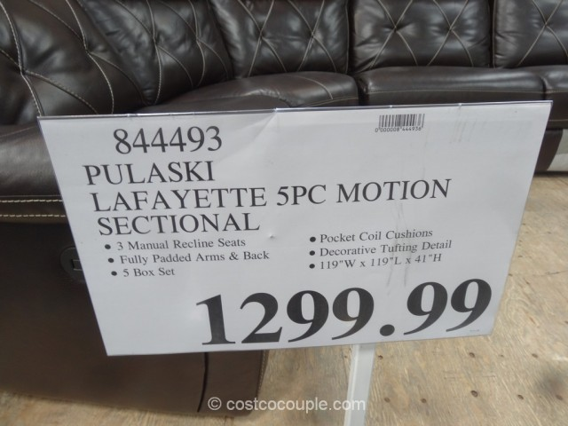 Pulaski Lafayette Motion Sectional Costco 1