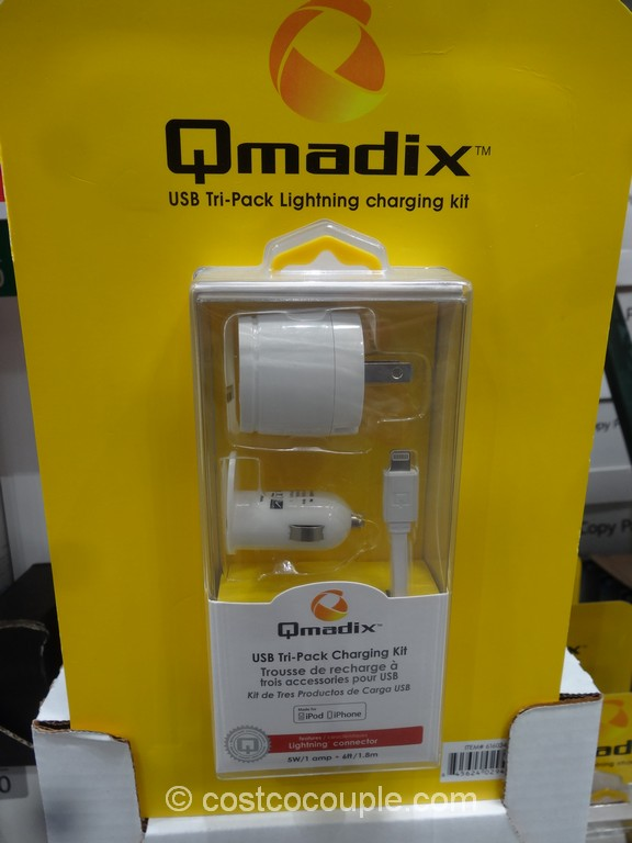 Qmadix Tri-Pack Lightning Charging Kit Costco 2