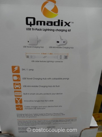 Qmadix Tri-Pack Lightning Charging Kit Costco 5